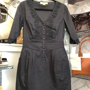 CATHERINE MALANDRINO 3/4 Sleeve Cut Out Dress